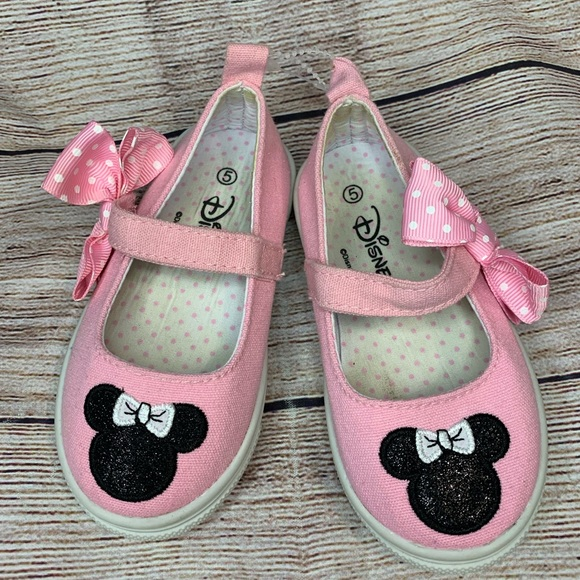 Minnie Mouse Pink Slip On Shoes. Size 5
